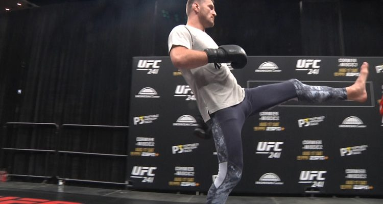 Former Champ Stipe Miocic Works Out Before Cormier Rematch At UFC 241